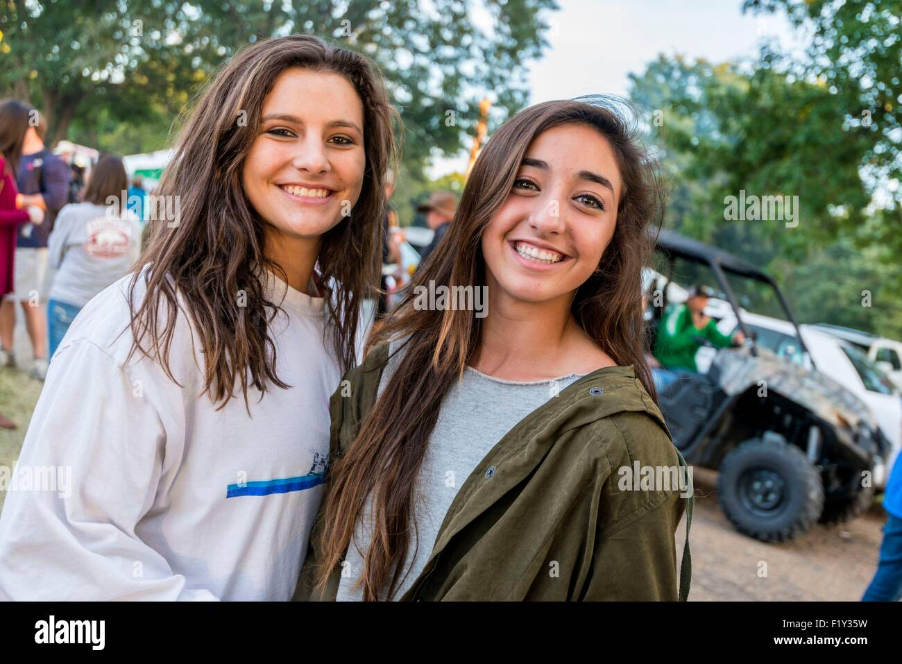 United States, Mississippi, Greenville, Mighty Mississippi Music festival, teenagers - Stock Image