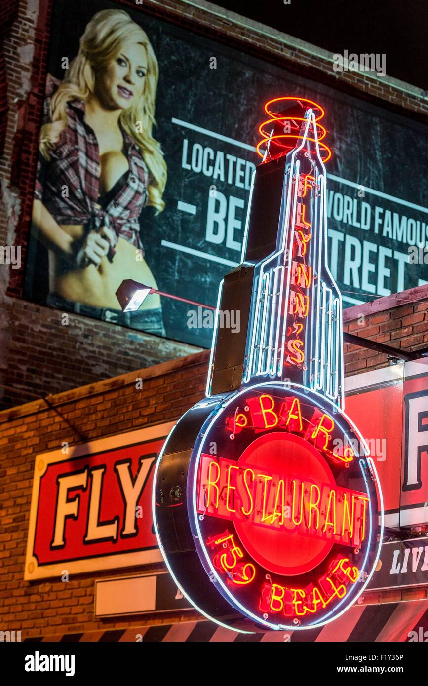 United States, Tennessee, Memphis, Beale Street - Stock Image