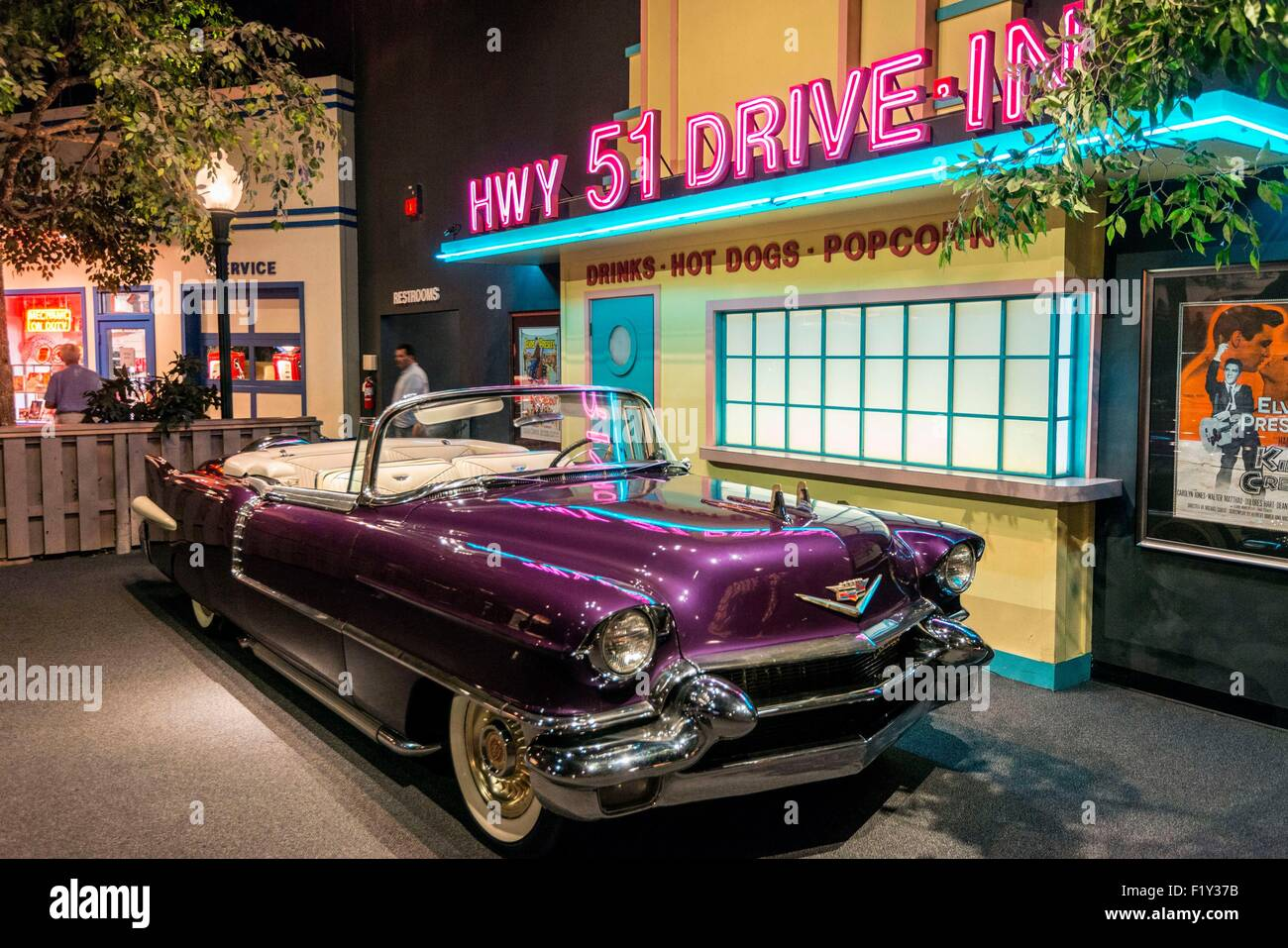 United States, Tennessee, Memphis, Graceland, Elvis Presley's house, memorabillia rooms - Stock Image