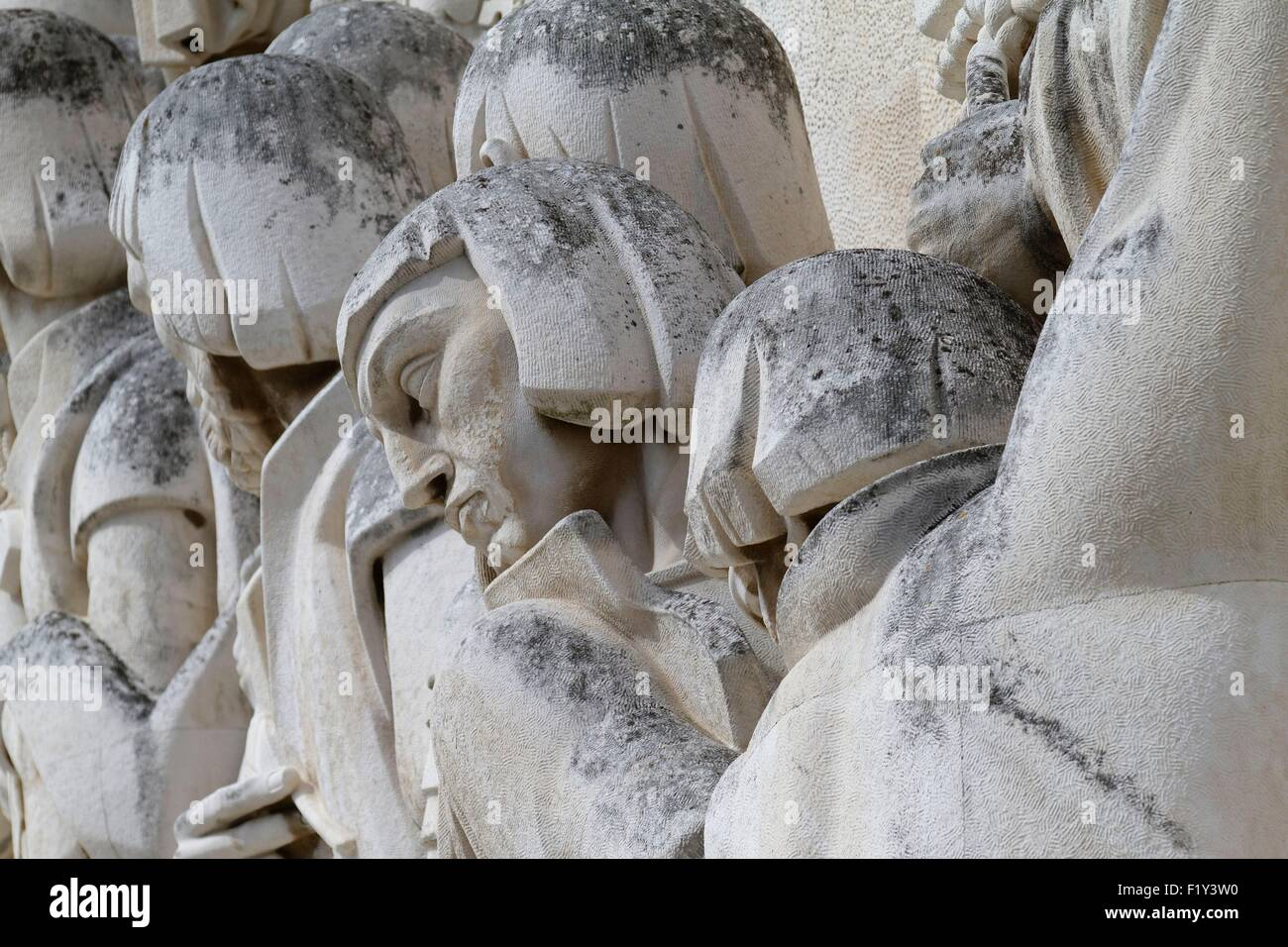 Portugal, Lisbon, Belem, Padrao dos Descobrimentos (Monument to the Discoveries) from 1960 - Stock Image