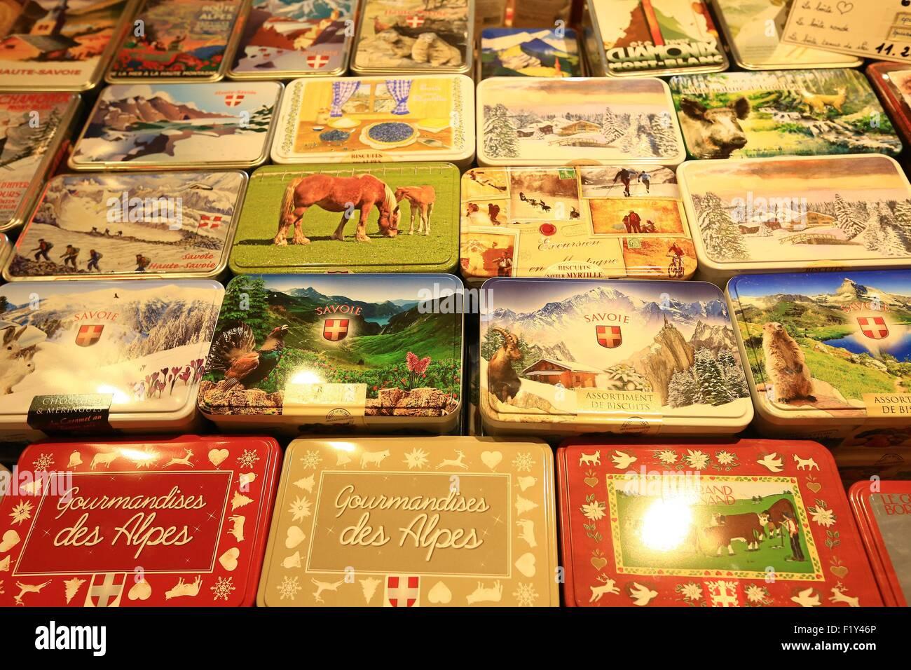 France, Haute Savoie, Le Grand Bornand, Two Guides, delicatessen - Stock Image
