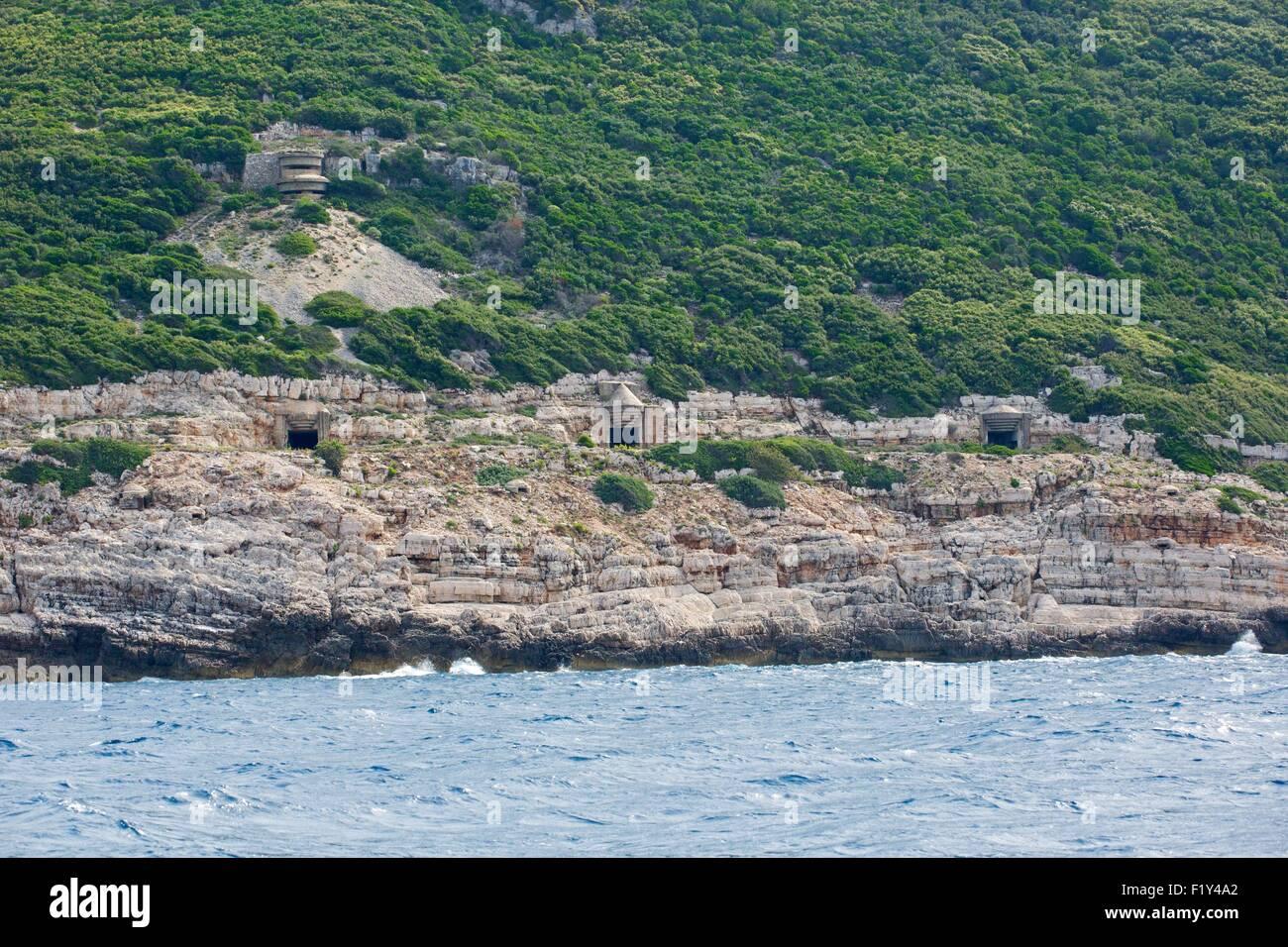 Albania, Vlora, Sazan island, bunker - Stock Image