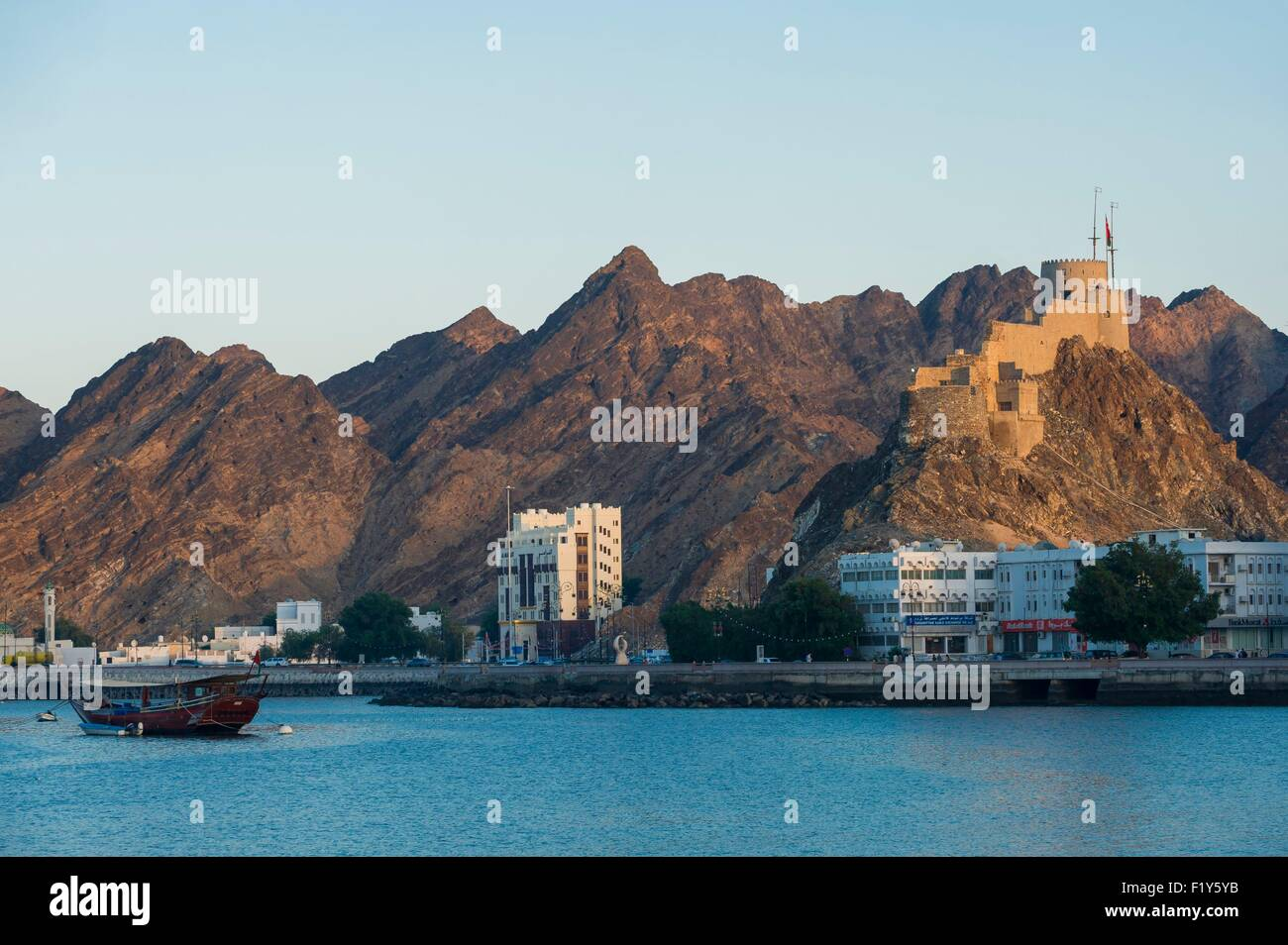 Oman, Muscat, Muttrah corniche, sea front - Stock Image