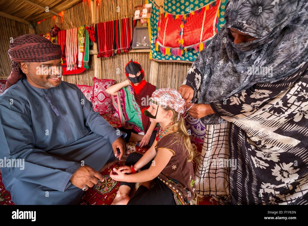 Oman, Sharquiyah Sands the Eastern Sands, Raka, beduin camp of Madam Salma - Stock Image