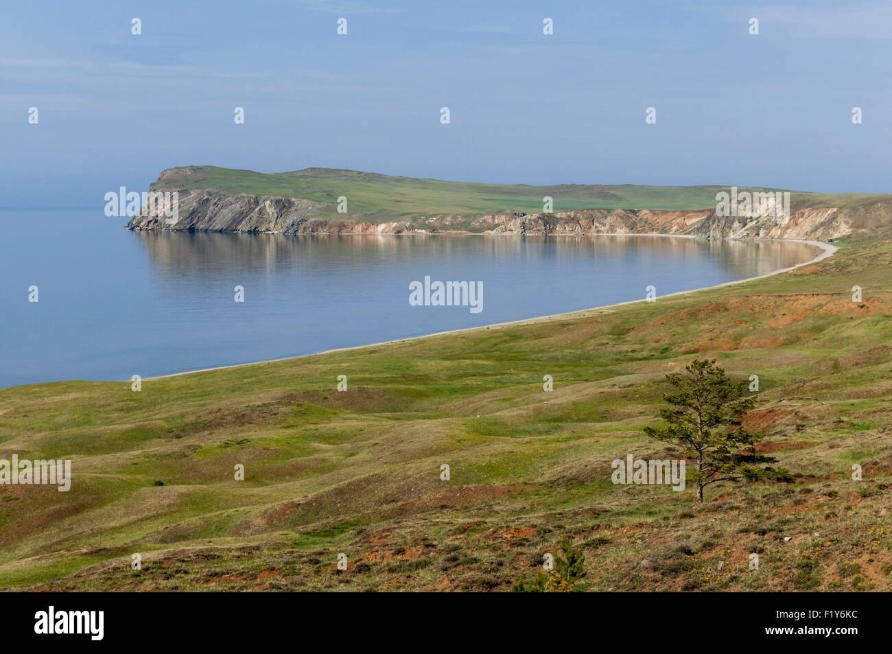 Russia, Siberia, Lake Baikal listed as World Heritage by UNESCO, Olkhon Island, Peschanaya Bay - Stock Image