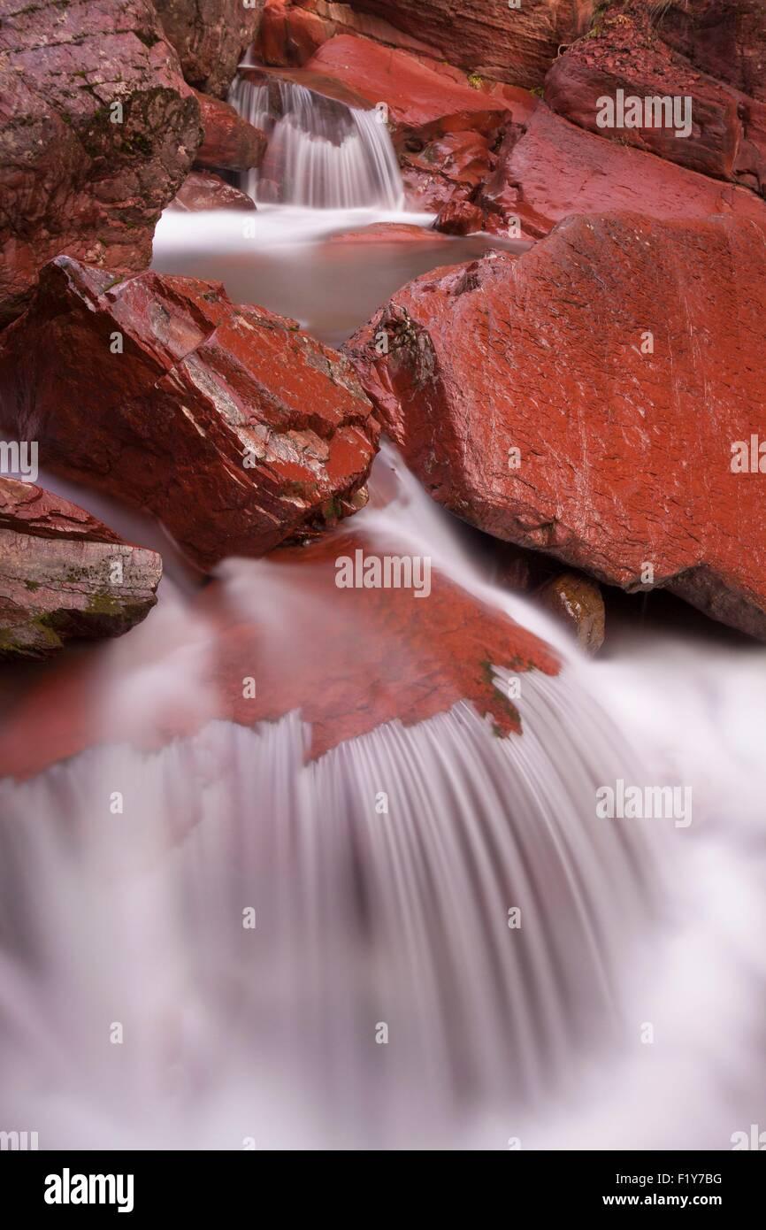 France, Alpes Maritimes, Parc National du Mercantour (Mercantour National Park), Haut Cians, waterfall in the Gorges Stock Photo