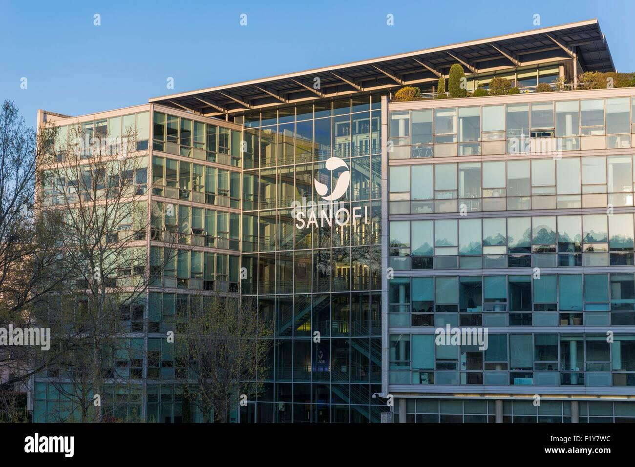 France, Rhone, Lyon, Gerland district, the headquarters of Sanofi Pasteur Stock Photo