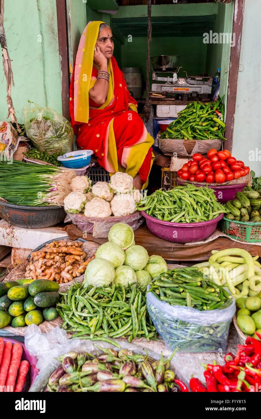 India, Rajasthan state, Nagaur, the main market - Stock Image