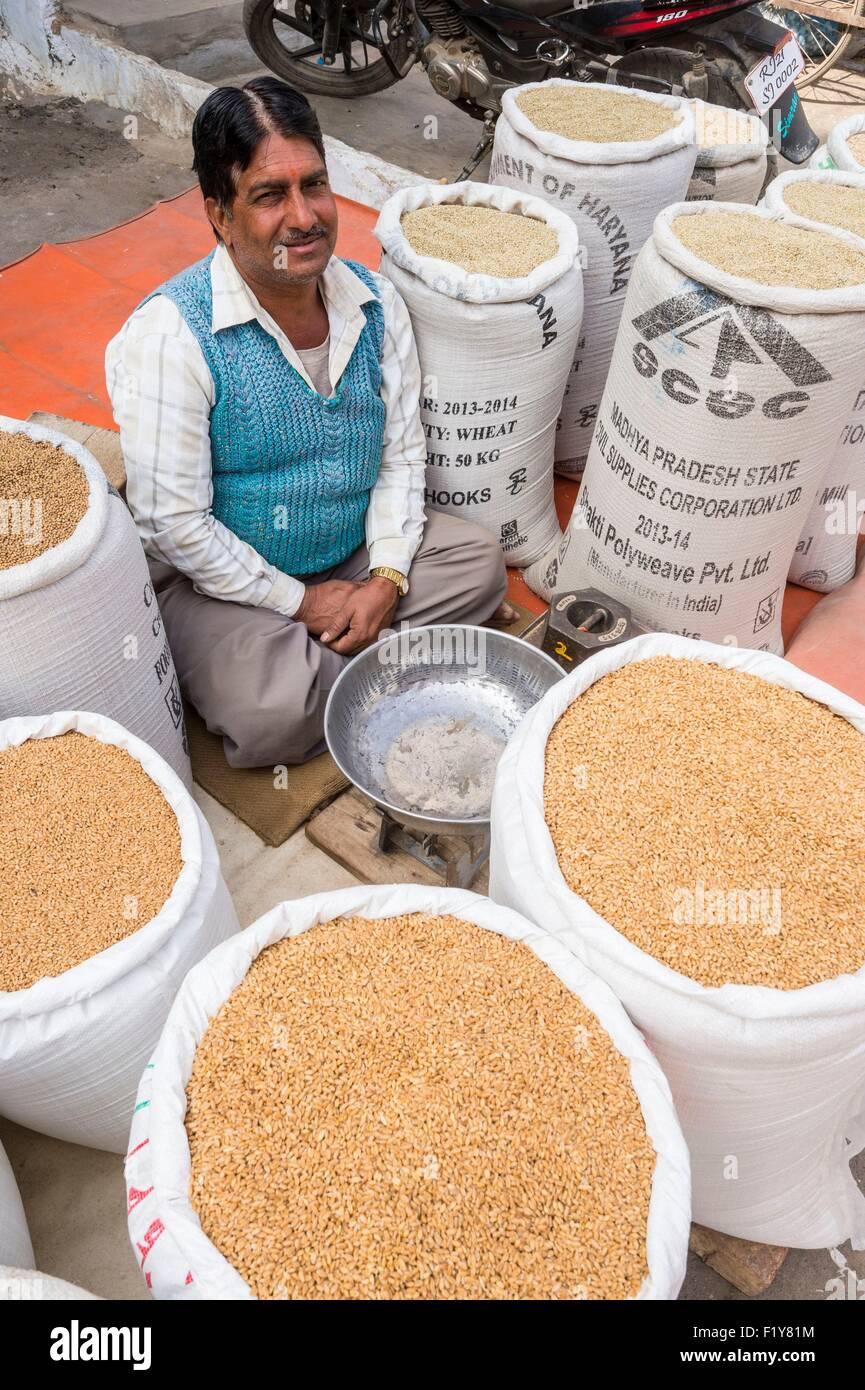 India, Rajasthan state, Nagaur, the main market Stock Photo