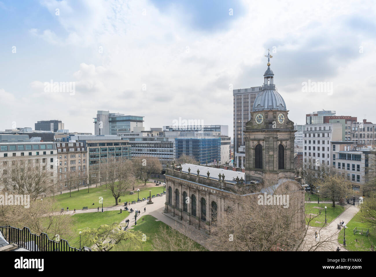 St Philips Anglican Cathedral Birmingham England - Stock Image