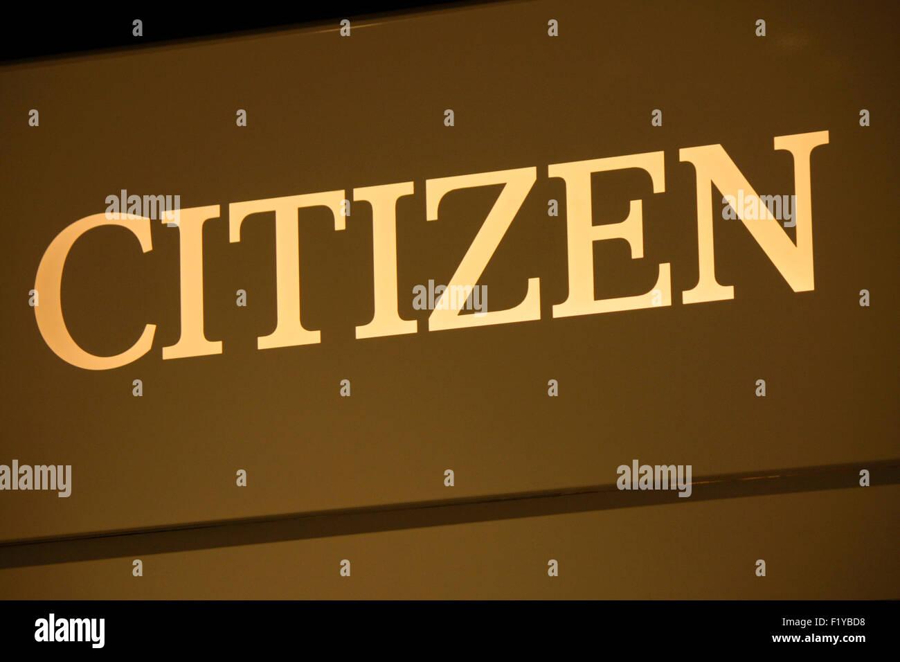 Markenname: 'Citizen', Dezember 2013, Berlin. - Stock Image