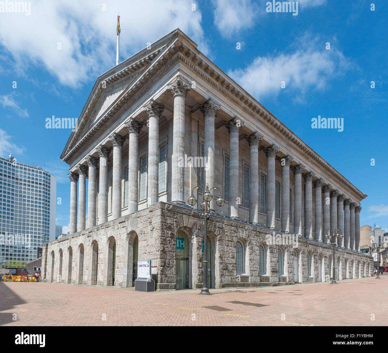 The Birmingham Town Hall, Victoria Square, Birmingham - Stock Image
