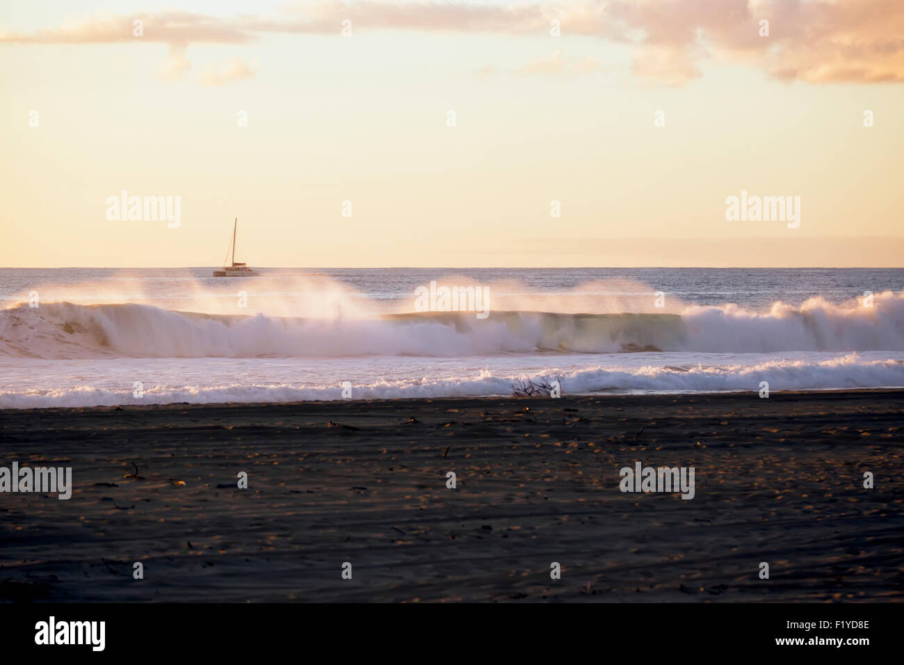 Beach,Hawaii,Kauai,Scenic,Barking Sands Stock Photo