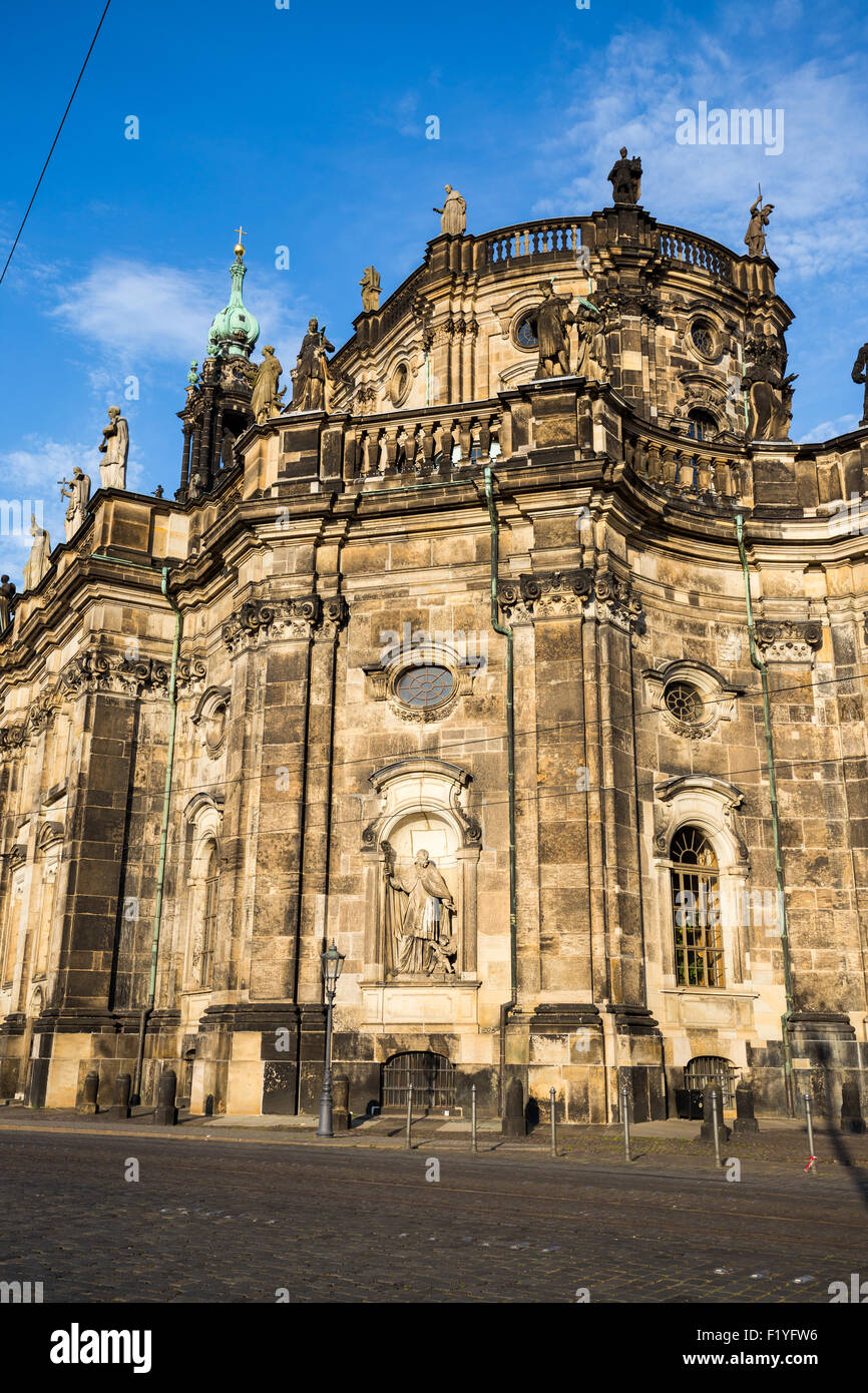 Dresden Cathedral, or the Cathedral of the Holy Trinity, Dresden, Germany, Europe - Stock Image