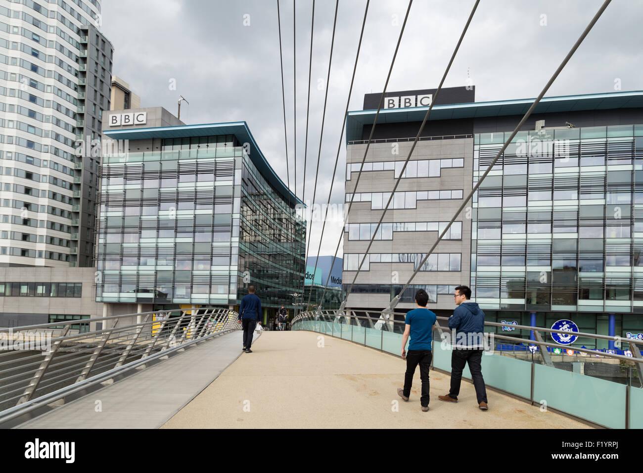 BBC studios at MediaCityUK at Salford Quays, Manchester, England. UK - Stock Image