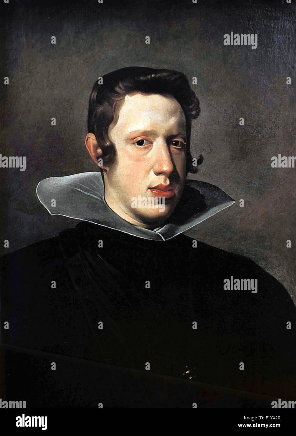 Diego Velázquez - Portrait of King Philip IV - Stock Image