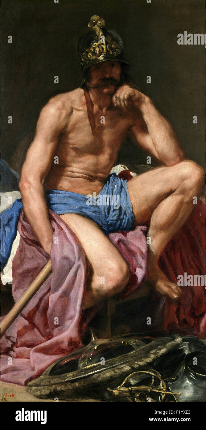 Diego Velázquez - The God Mars - Stock Image