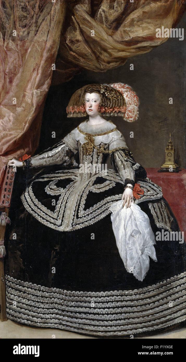 Diego Velázquez - Mariana of Austria, Queen of Spain - Stock Image
