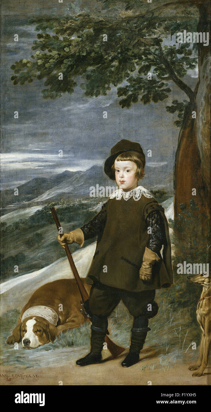 Diego Velázquez - Prince Baltasar Carlos as a Hunter - Stock Image