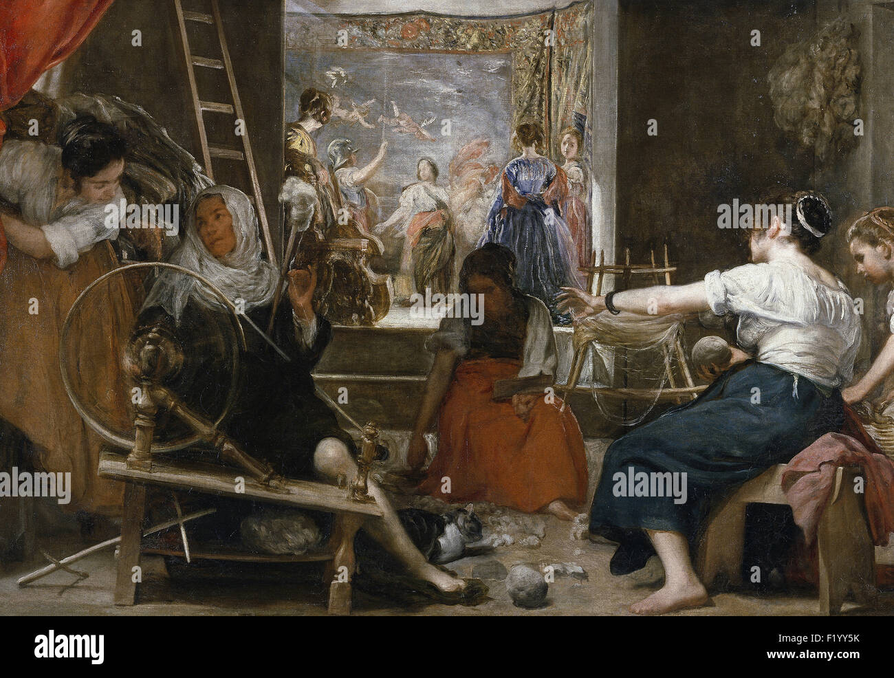 Diego Velázquez - The Spinners, or The Fable of Arachne - Stock Image