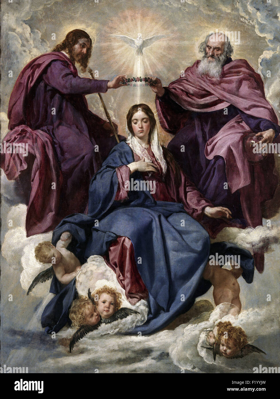Diego Velázquez - The Coronation of the Virgin - Stock Image