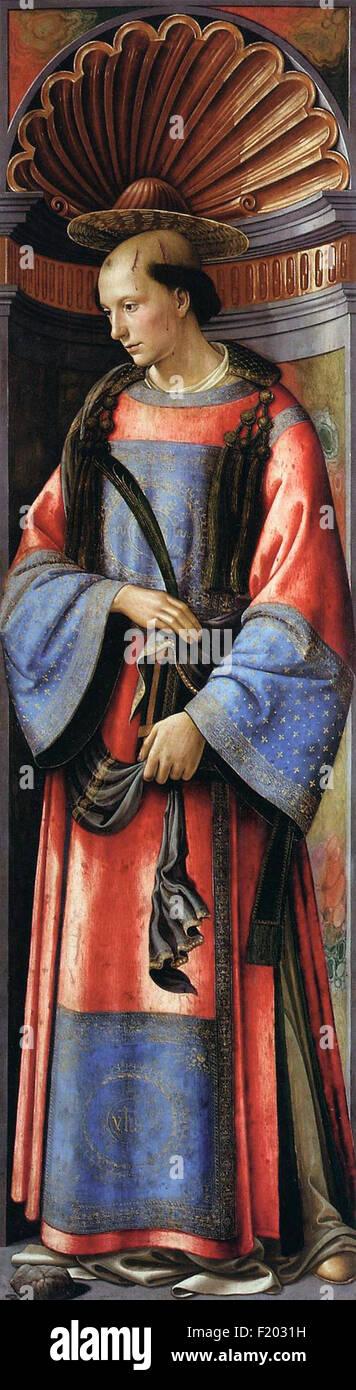 Domenico Ghirlandaio - Saint Stephen - Stock Image