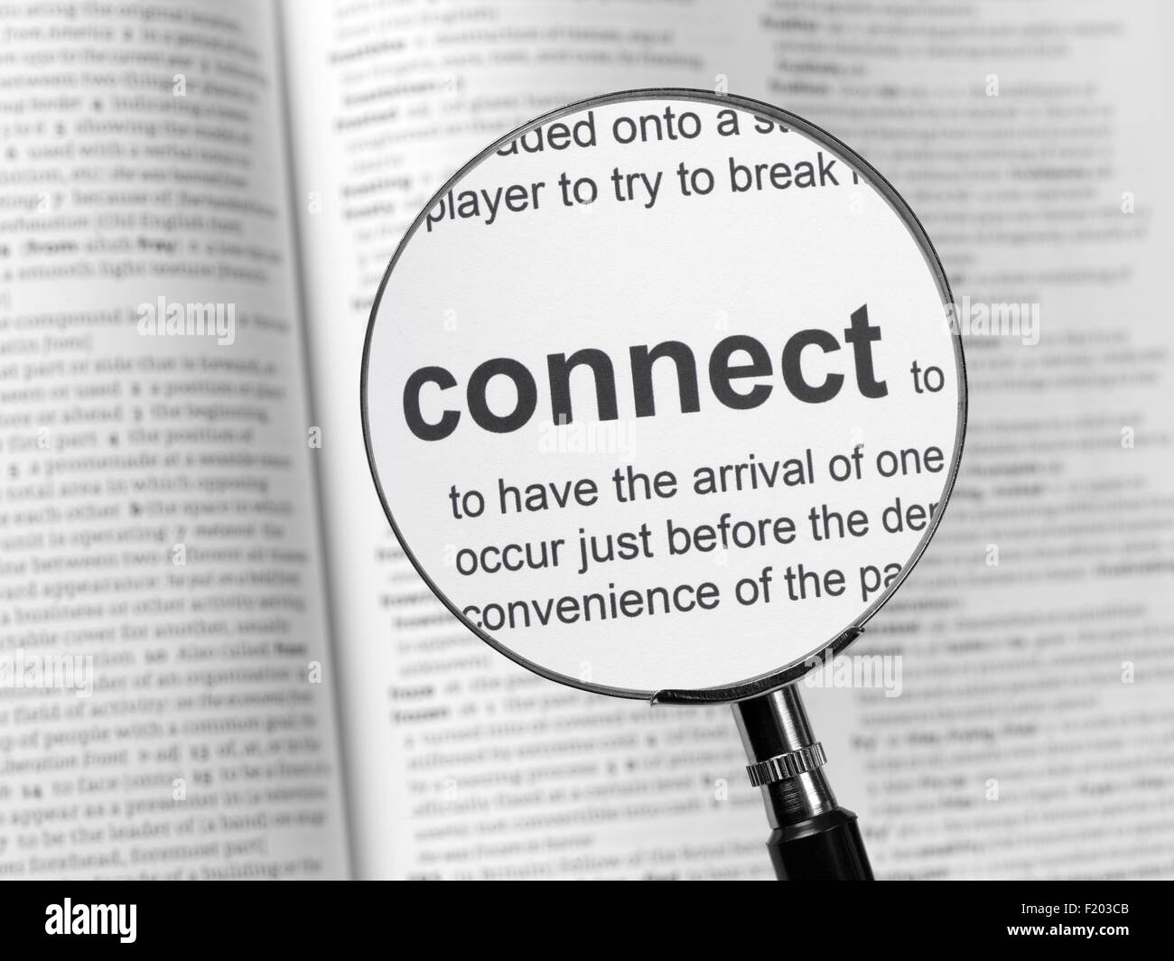 Dictionary highlighting Connect - Stock Image