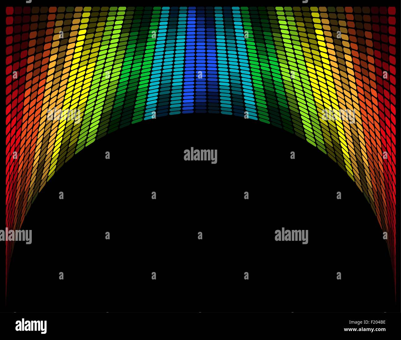 abstract multicolored graphic equalizer vector illustration isolated