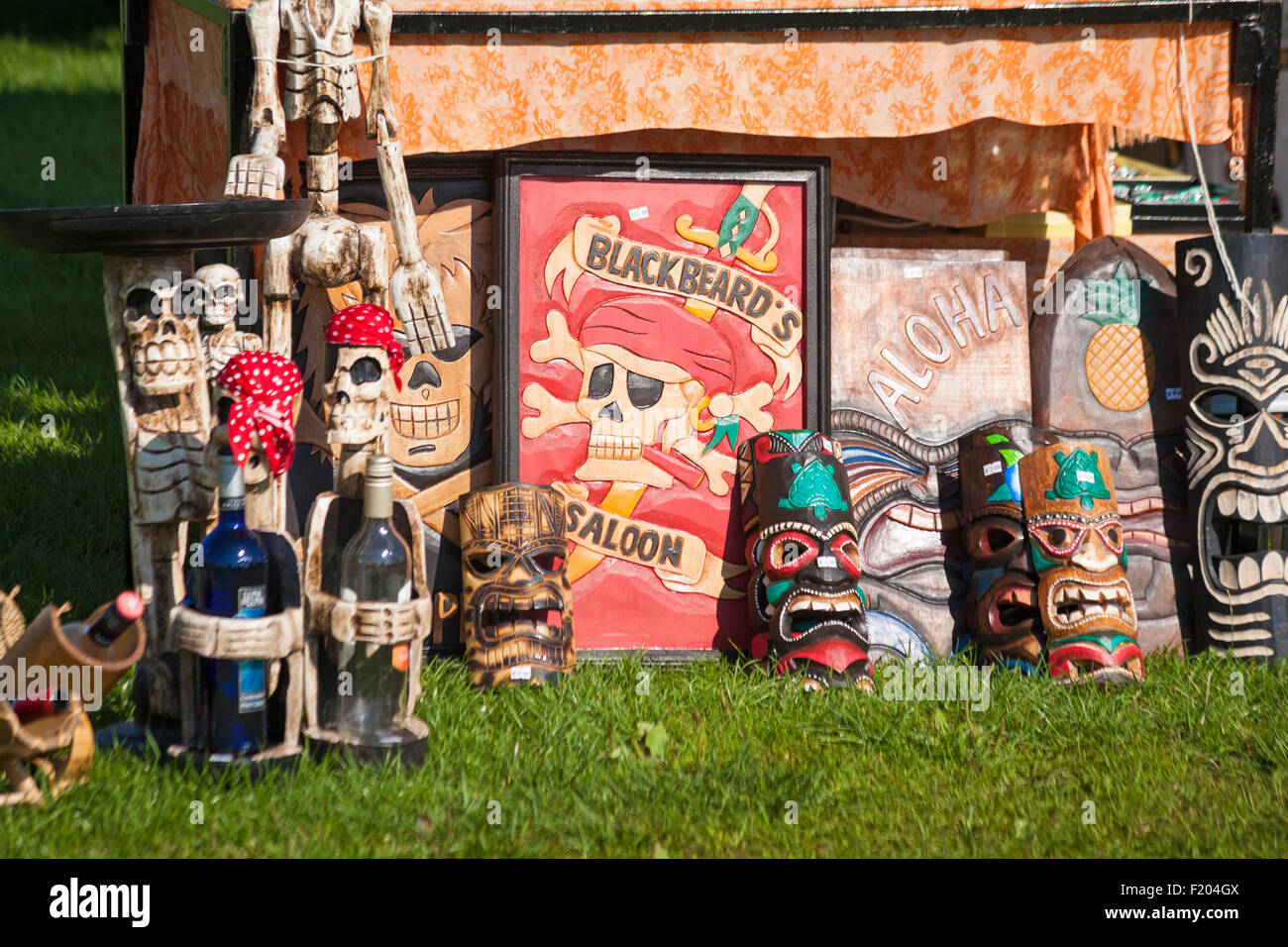 Scary items for sale on stall at Poole Thai Festival, Dorset, UK in September - Stock Image