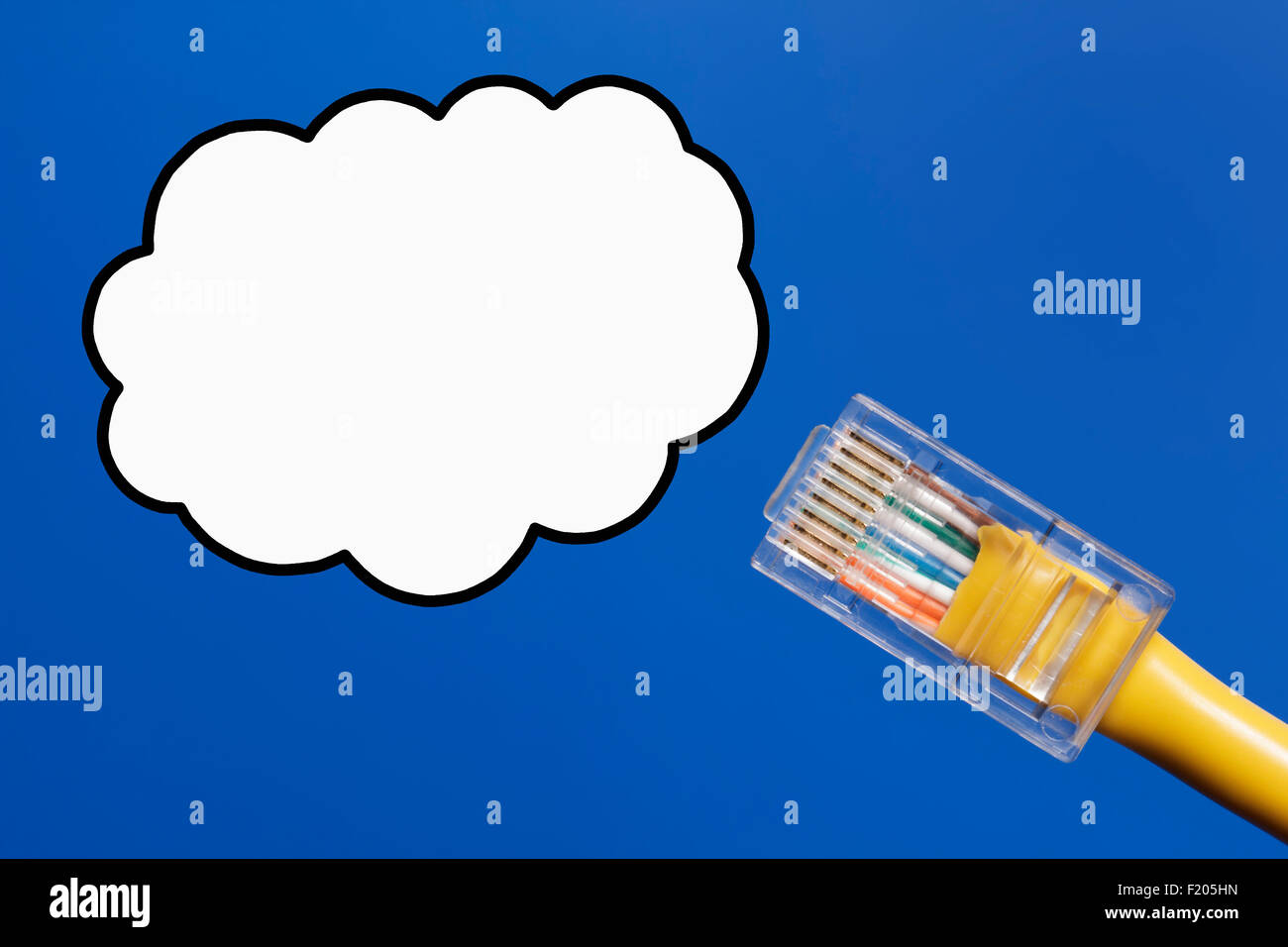 Joining a social network, social networking, individual joining a social network, cloud computing, cloud data, data Stock Photo