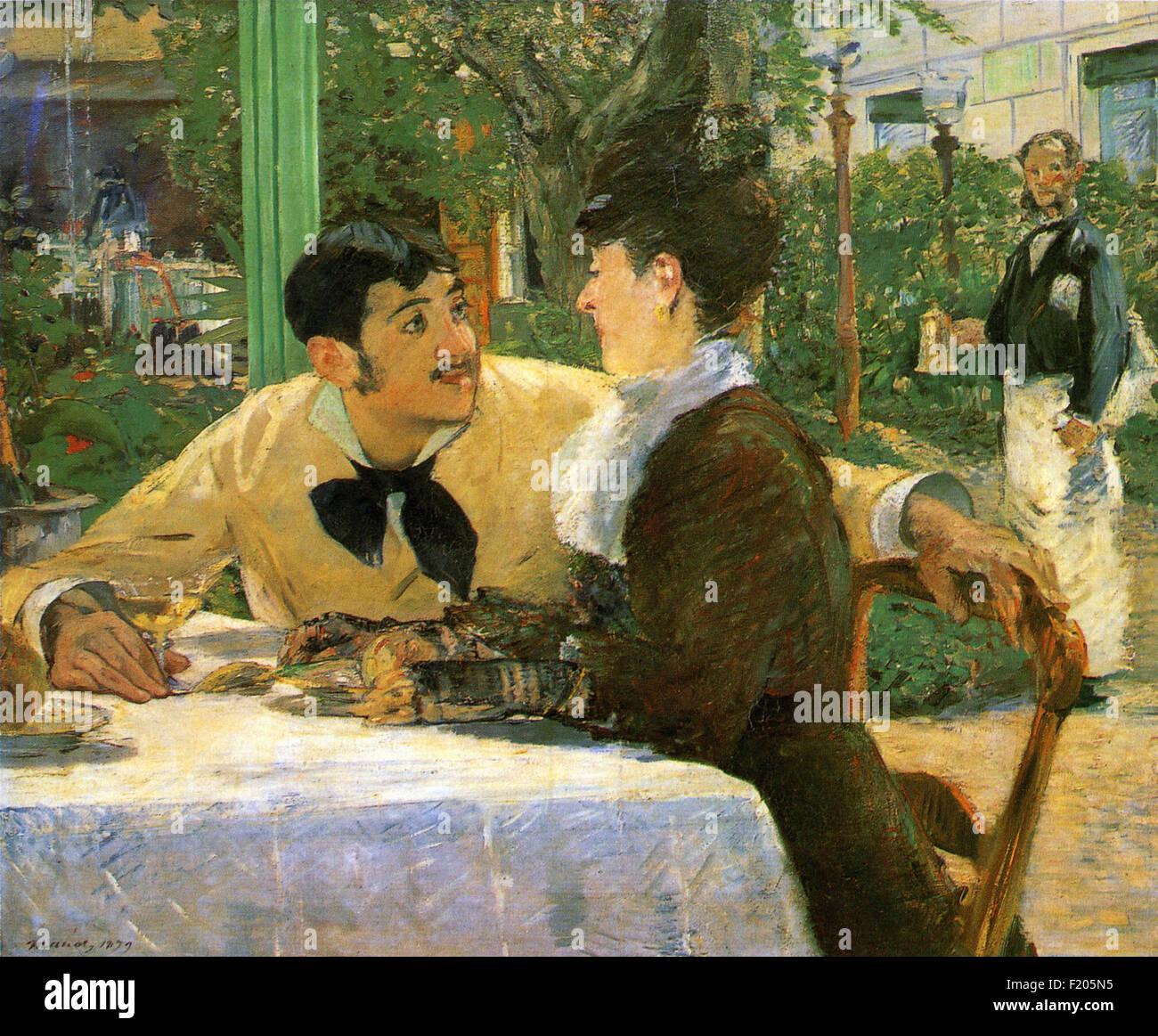 Edouard Manet - Chez le Père Lathuille - Stock Image