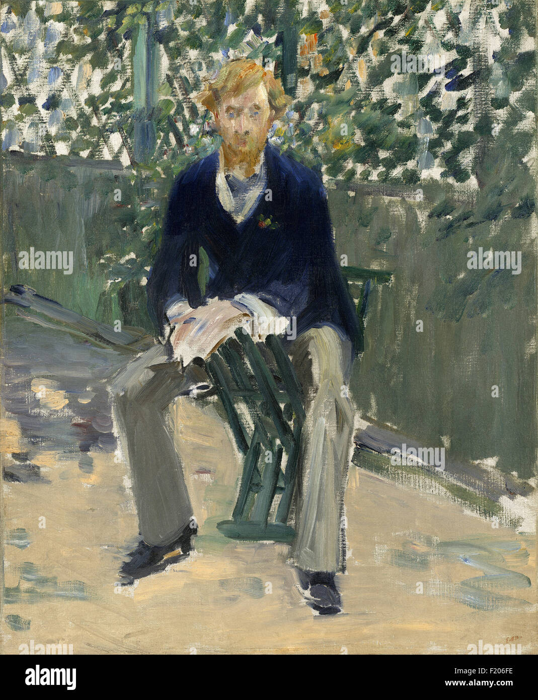 Edouard Manet - George Moore in the Artist's Garden - Stock Image