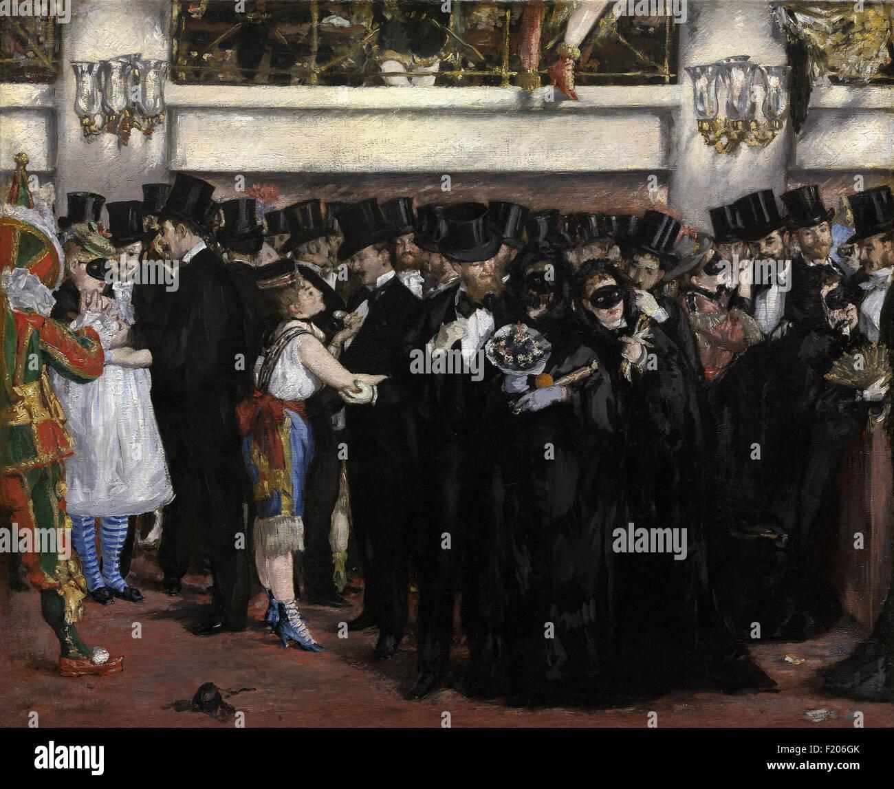 Edouard Manet - Masked Ball at the Opera - Stock Image