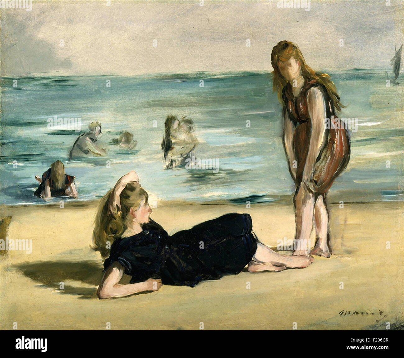 Edouard Manet - On the Beach - Stock Image