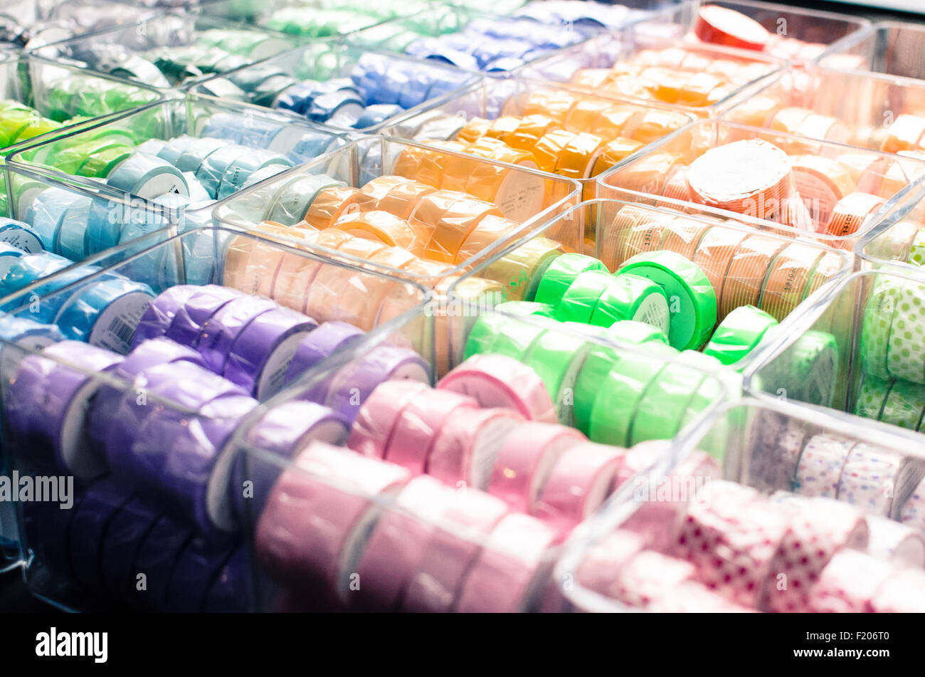 Many colors with tape rolls Stock Photo
