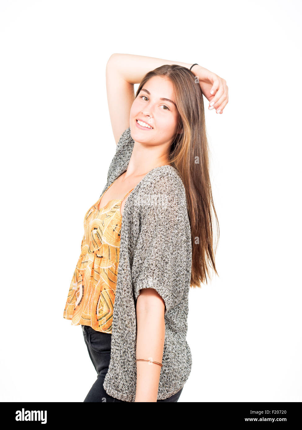 junge attraktive Frau posiert - Stock Image