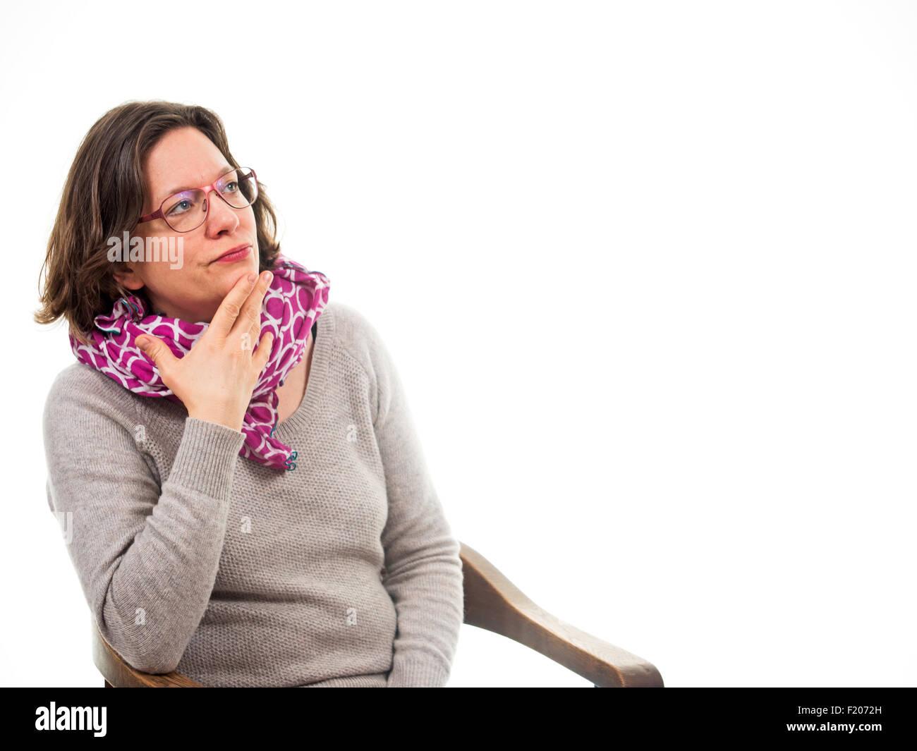 Frau denkt nach - Stock Image