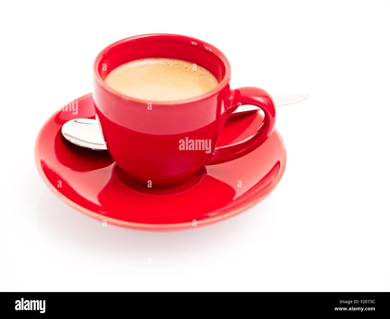 rote Espressotasse - Stock Image