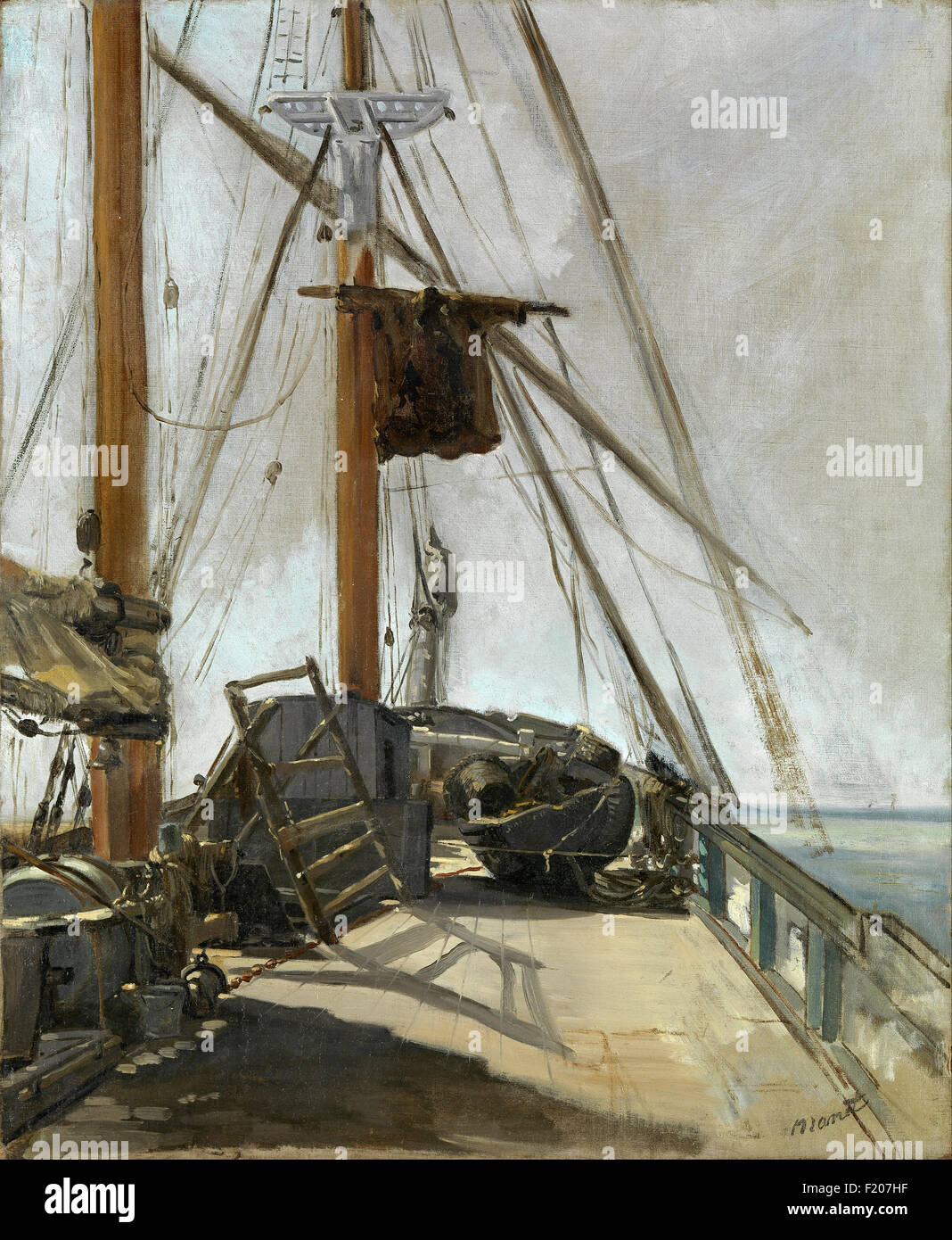 Edouard Manet - The Ship's Deck - Stock Image
