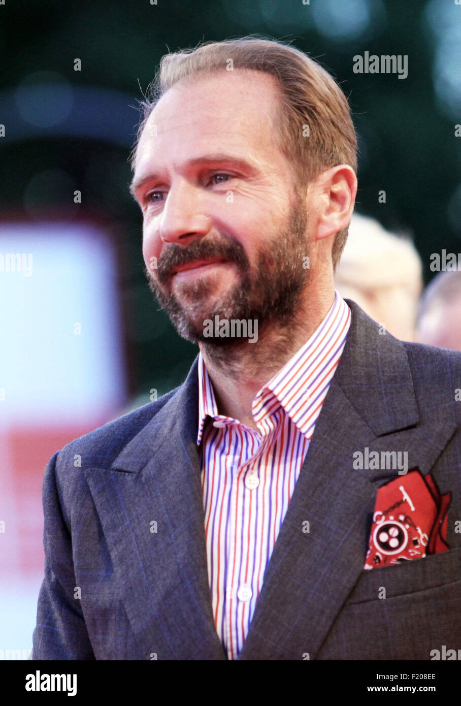Actor Ralph Fiennes at the red carpet of the movie 'A Bigger Splash' (director Luca Guadagnino) presented - Stock Image