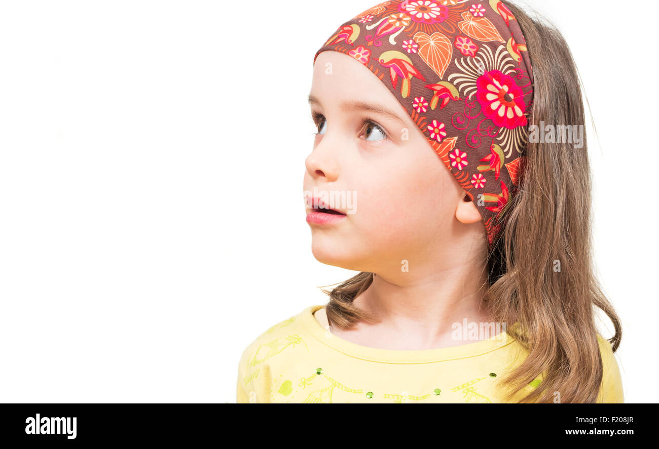 Mädchen schaut nach oben - Stock Image