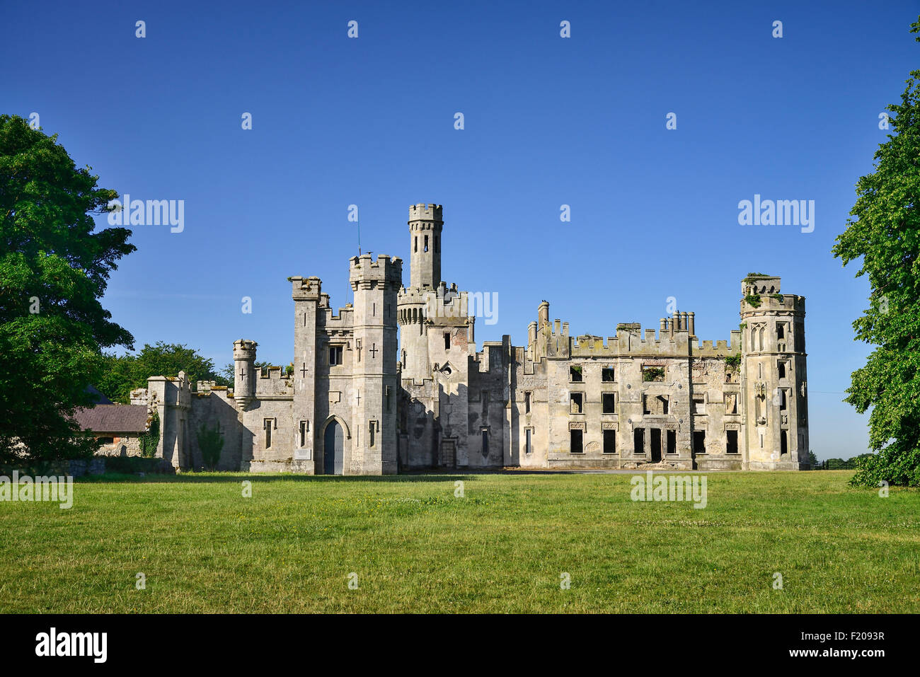 Ireland, County Carlow, Duckett's Grove, ruins of the 18th 19th and early 20th century home of the Duckett family. - Stock Image
