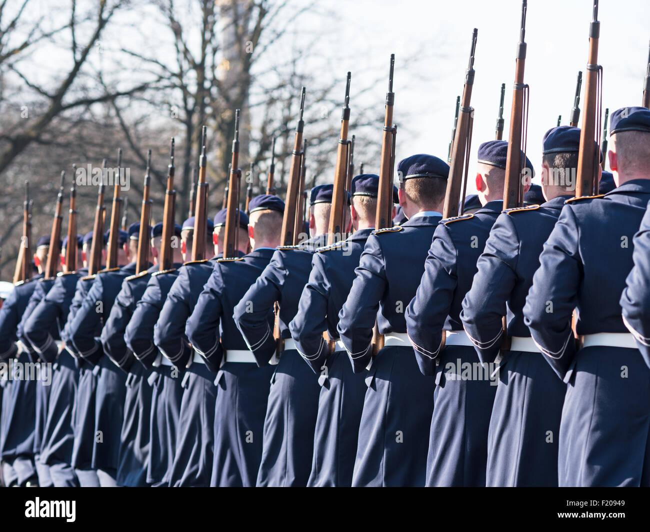 Wachregiment der Bundeswehr exerziert - Stock Image