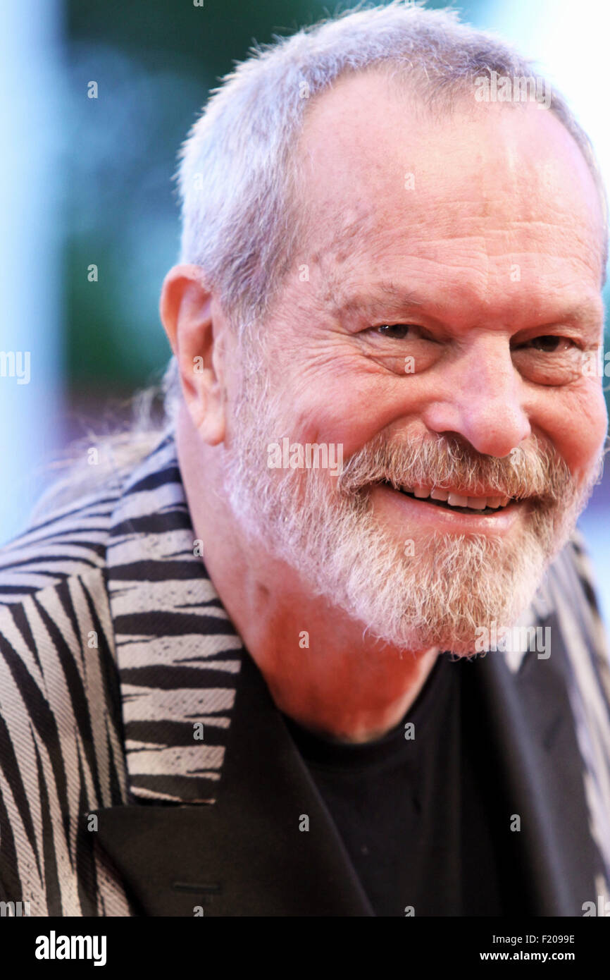 The director Terry Gilliam at the red carpet 72th Venice International Film Festival  September 6, 2015 in Venice, - Stock Image