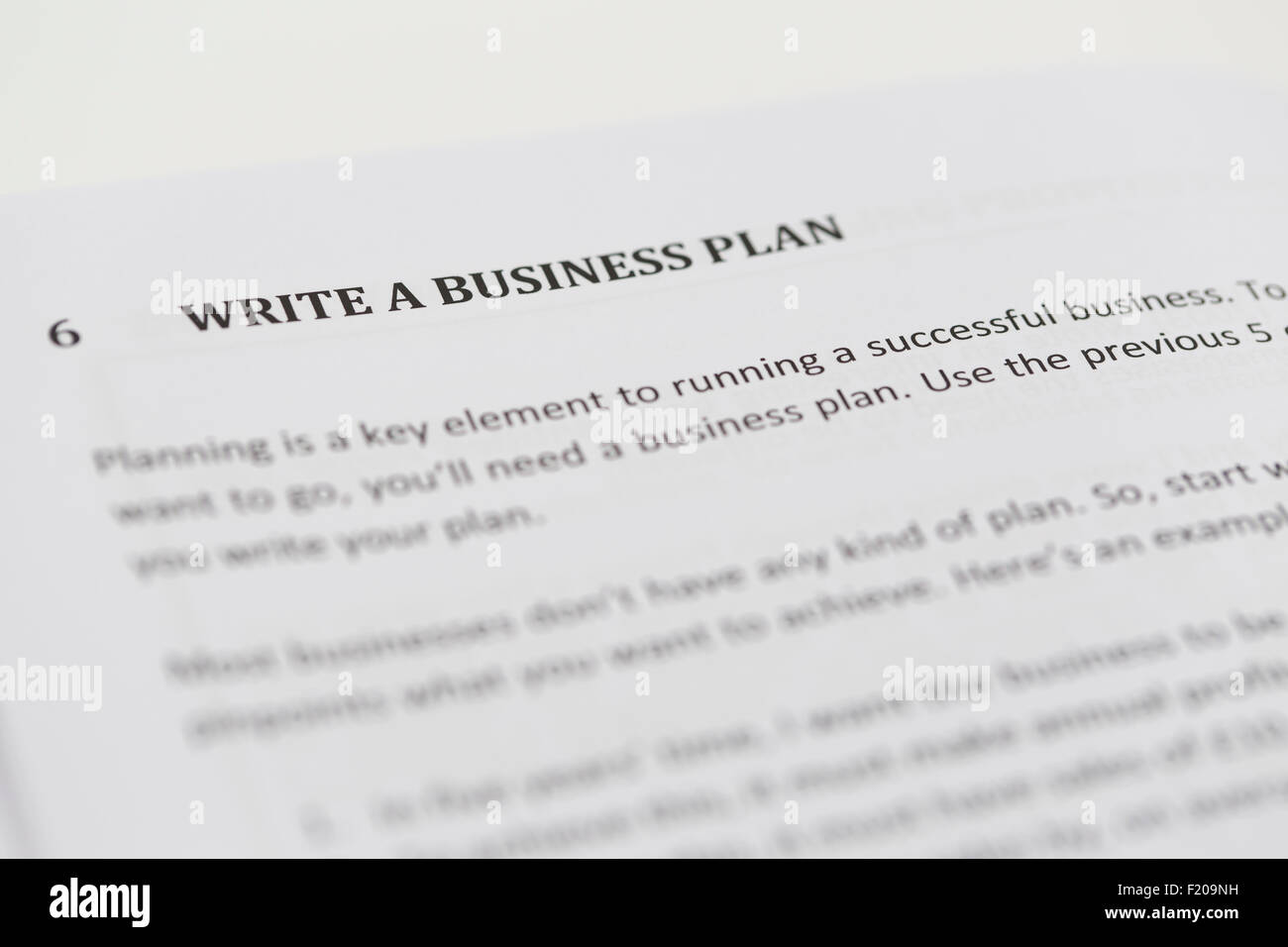 Write a Business Plan - Stock Image