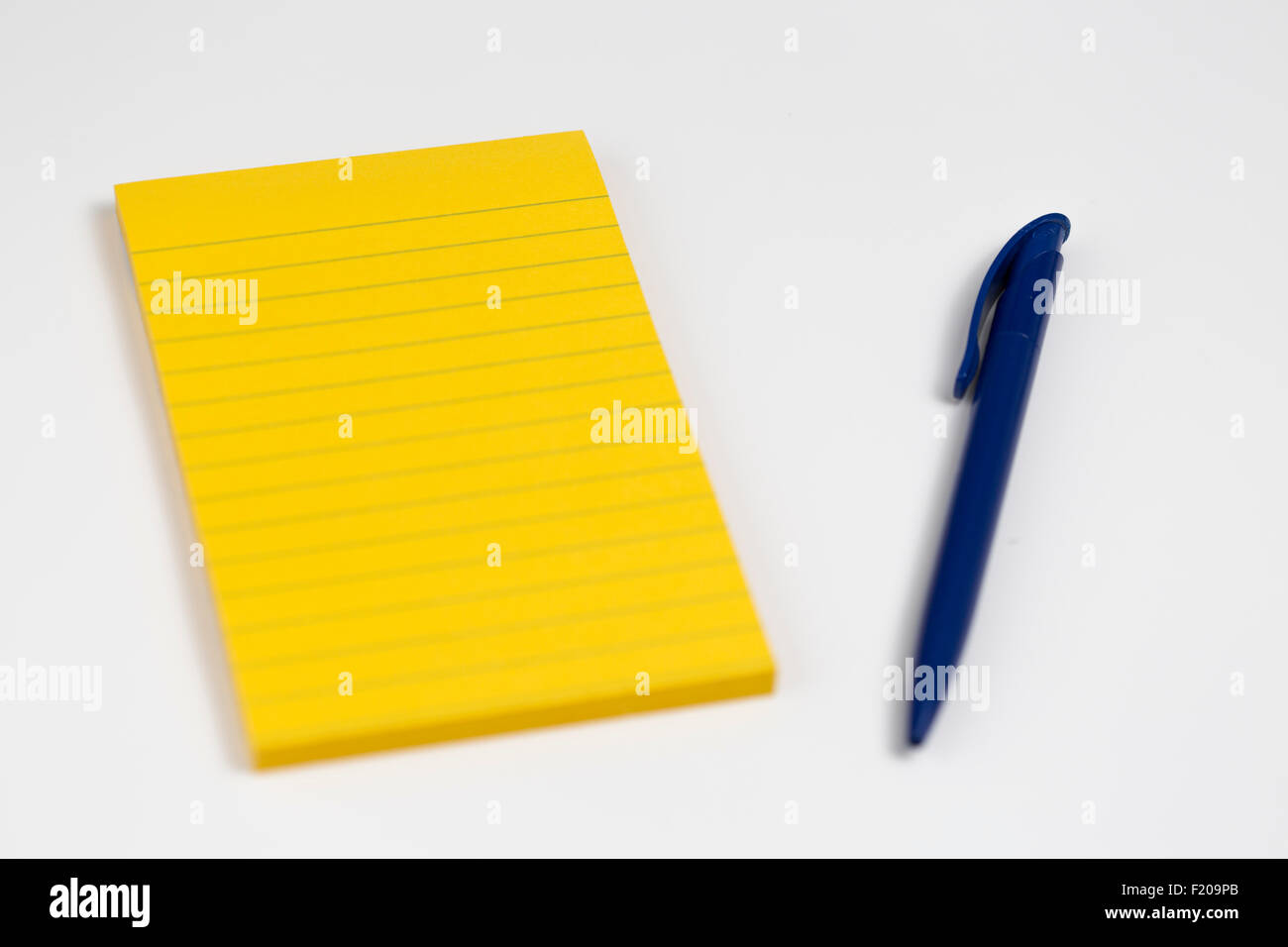 Pad and Pens Notepad - Stock Image