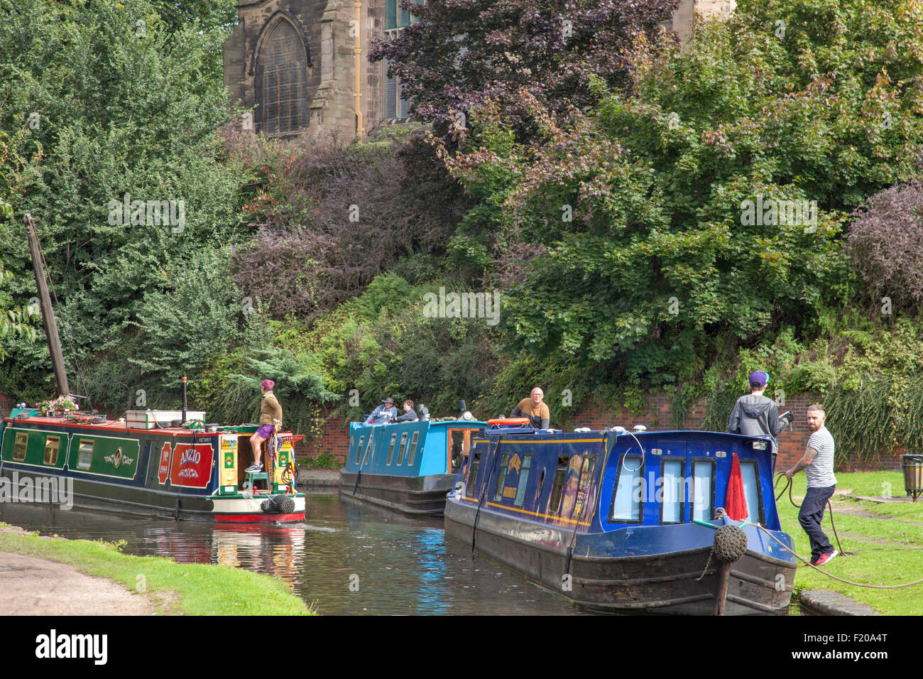 The Staffs and Worcester Canal, Kidderminster, Worcestershire, England, UK - Stock Image