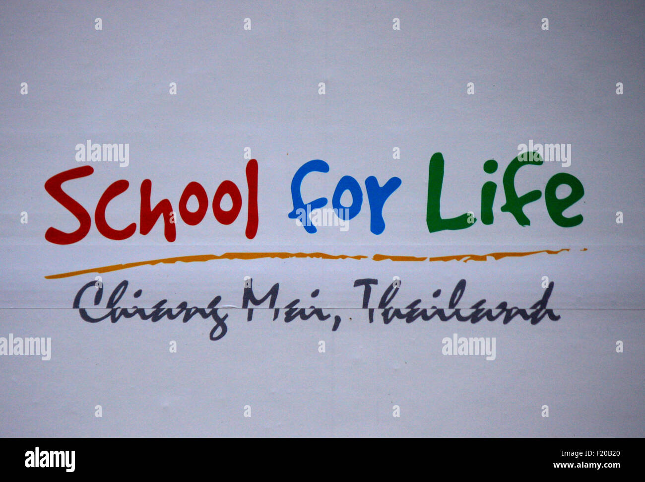 Markenname: 'School for Life', Berlin. - Stock Image
