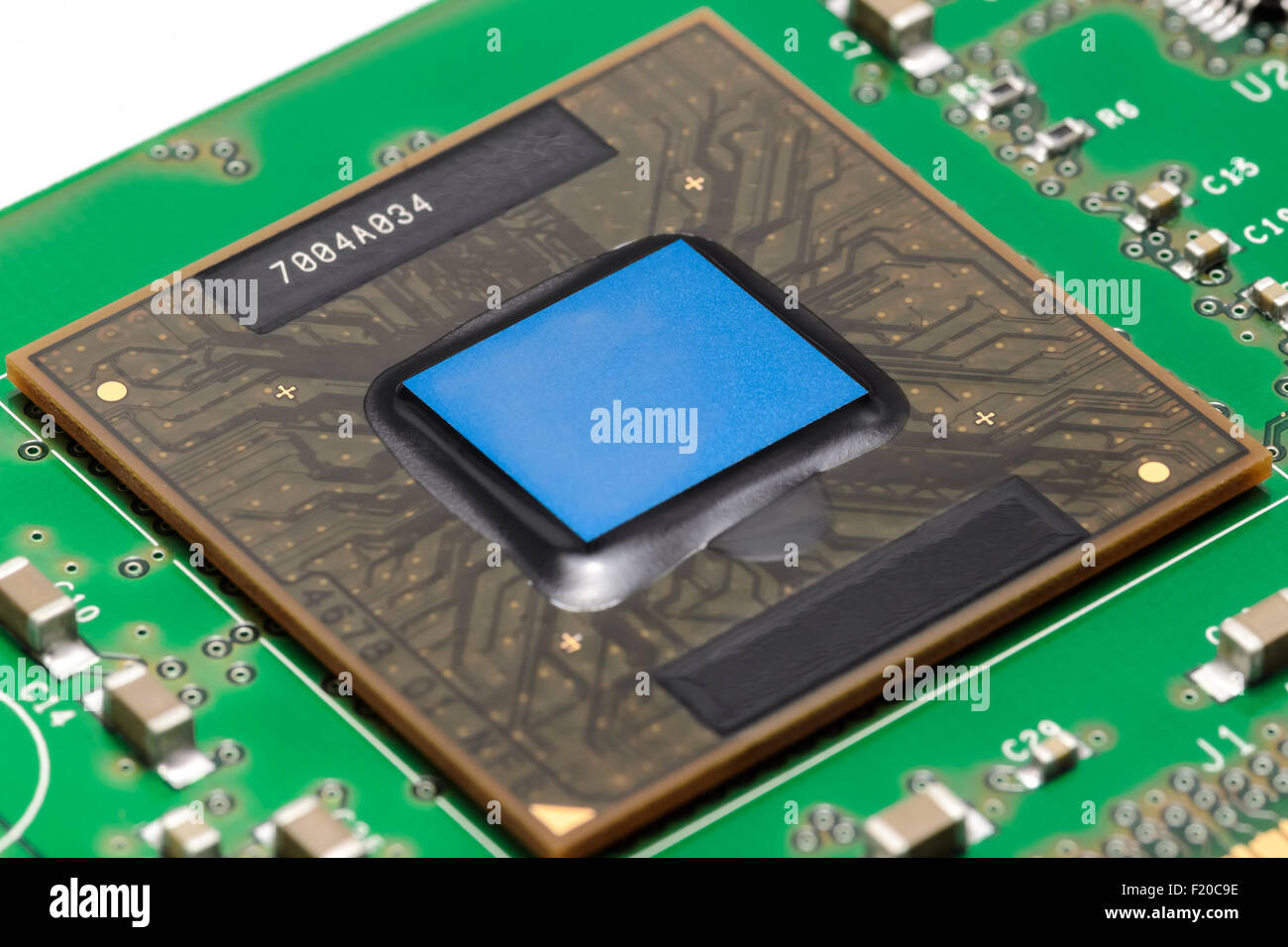 Old Processor Stock Photos Images Alamy Electronics Circuit Board Royalty Free Photo Image On Printed