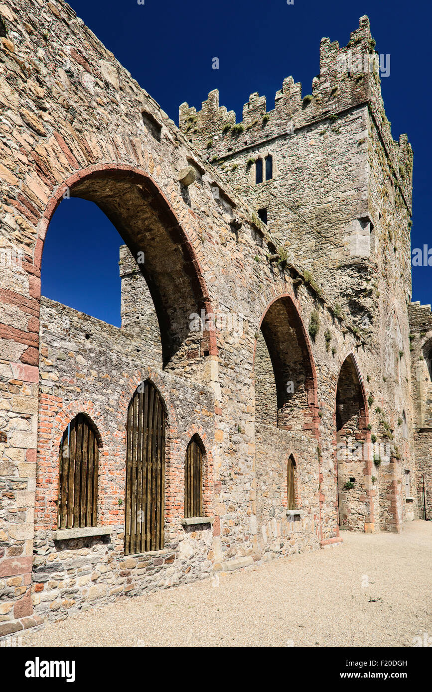 Ireland, County Wexford, Tintern Abbey, 13th century Cistercian Abbey. - Stock Image